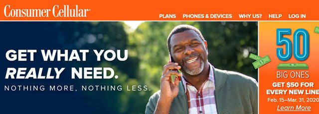Consumer Cellular Homepage